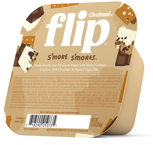 "Chobani® ""Flip""™ S'more S'mores™ Sweet Vanilla Low-Fat Yogurt"