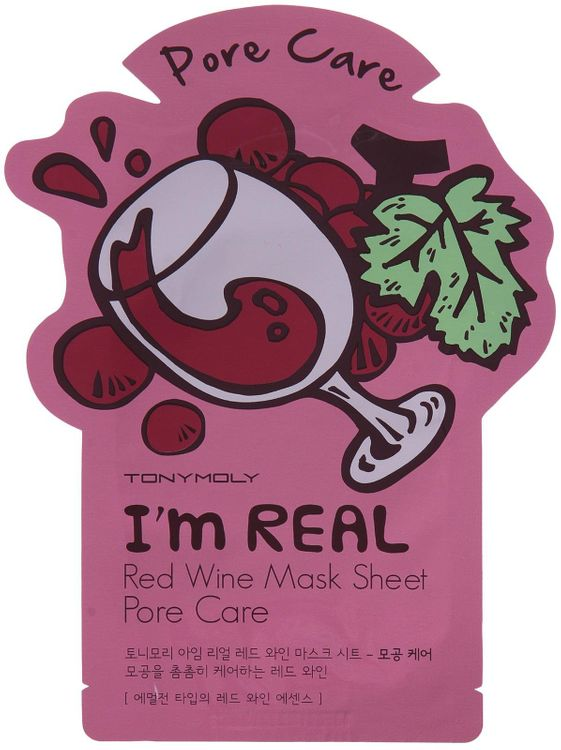 Tony Moly - I'm Real Red Wine Mask Sheet (Pore Care) 10 pcs