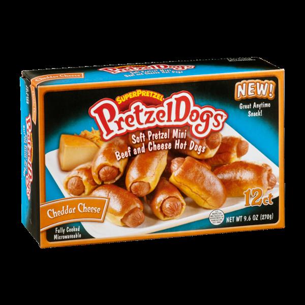 superpretzel pretzeldogs soft pretzel mini beef and