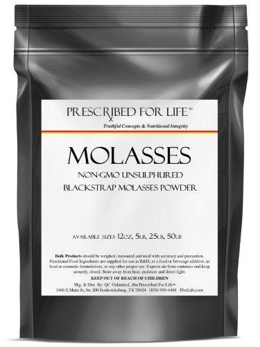 Prescribed For Life Molasses Powder- Unsulphured Blackstrap Molasses (non-GMO)
