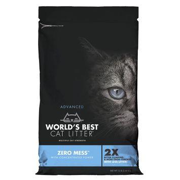 World's Best Cat Litter, Advanced Zero Mess Cat Litter - Clumping size: 12 Lb