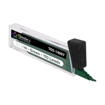 Thornton's Office Supplies Mechanical Pencil Lead Refills, HB #2 0.7mm, Green Lead, 660 Pieces