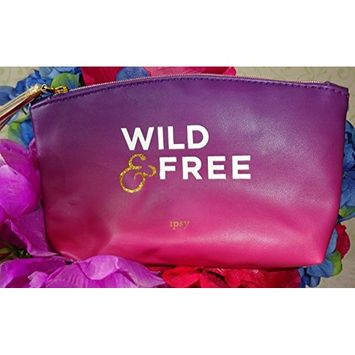 Ipsy August 2017 Wild & Free Purple Ombre Zippered Cosmetics Bag - Makeup Bag Only