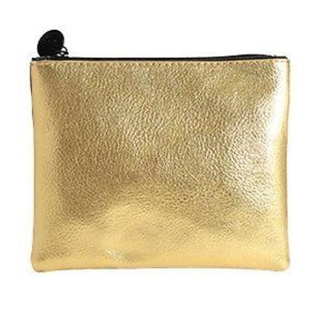 October 2015 Gold Shimmer Zippered IPSY Cosmetics Makeup Bag
