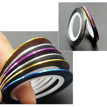 Nail Striping Tapes Self Adhesive Lines 5 Pack 15 Rolls Striping Tape DIY Nail Art Stickers