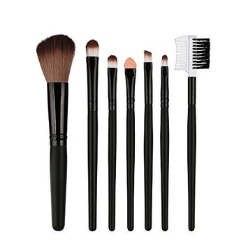 7 Pcs Wood Makeup Brush EyeShadow Brush Cosmetics Blending Brush Tool WensLTD