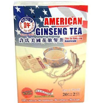 American Ginseng Tea,20 Teabags, 2g/each. 100% Nature. No Additives, No Caffeine, No Sugar.