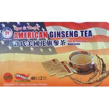 Hsu's Root to Health American Ginseng Tea, 40 Teabags (2x20 Teabags)