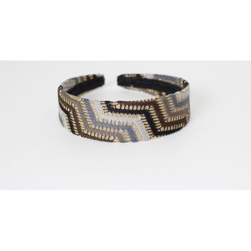 Great Gatsby / Flapper Inspired Fashion Headband / Hairband with Pattern Stitched Design