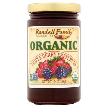 Tropical Preserving Co., Inc. Randall Family Preserves, Preserves Trple Berry Org, 10 Oz (Pack Of 6)