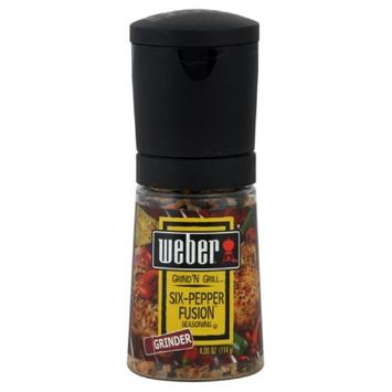 Weber Grill Grinder, 6 Pepper, 4-Ounce (Pack of 3)