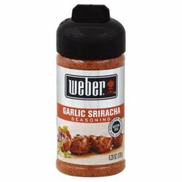 WEBER SPICE GARLIC SRIRACHA, 6.2 OZ (Pack of 8)