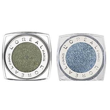 L'Oréal Infallible Eyeshadow Golden Sage and Infallible Eyeshadow Infinite Sky Bundle, Intense Maximized Color, Luxurious Texture, Long-Lasting Hold, Waterproof, Fade Resistant