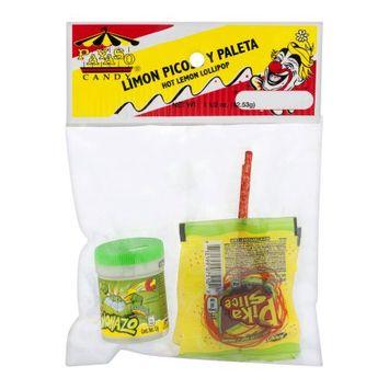 Payaso Hot Lemon Lollipop Candy, 1 1/2 oz