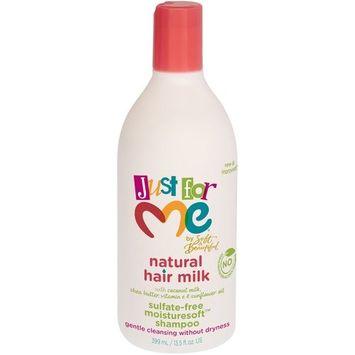 Just for Me Natural Hair Milk Sulfate-Free Moisturesoft Shampoo 13.5 fl. oz. Bottle