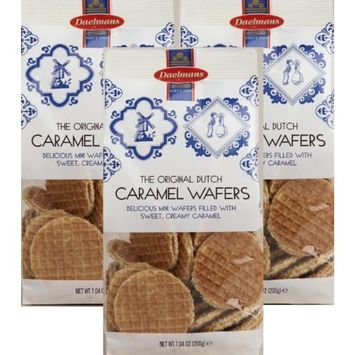 3 Pack: Daelmans Original Dutch Caramel Wafers 7 Oz Bags