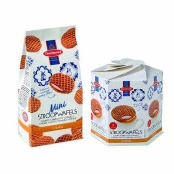 Daelmans Stroopwafels Caramel Bundle Pack Hex Box & Mini Wafers Bag (Pack of 2)