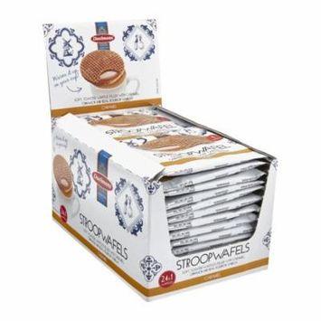 Daelmans Stroopwafels Caramel Wafers Jumbo Size Single Serve 24 Snack Packs 1.38 Oz. Each