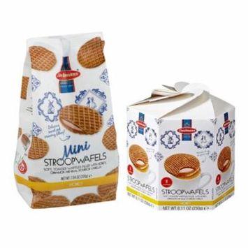 Daelmans Stroopwafel HONEY Bundle Pack Hex Box & Mini Wafers Bags (Pack of 2)
