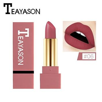 CYCTECH 12 Colors Velvet Matte Lipstick Pigment Brown Nude Long Lasting Waterproof Beauty Lip Non-stick Cup Unbleached Lipgloss