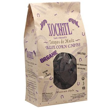 Xochitl Organic Mexican Style Blue Corn Chips, 12 oz, (Pack of 10)