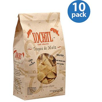 Xochitl Mexican-Style Stone Ground Corn Chips, 12 oz, (Pack of 10)