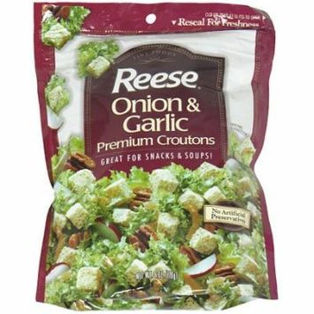 Reese Onion & Garlic Croutons, 6 oz (Pack of 12)