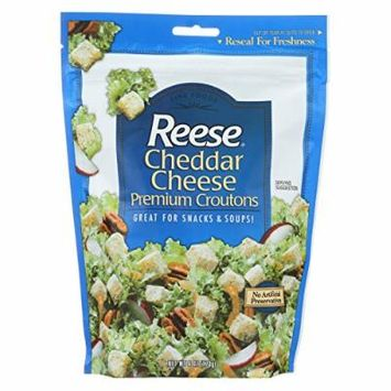 Reese Premium Croutons - Cheddar Cheese - Case of 12 - 6 oz.