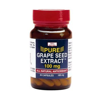 Only Natural - Pure Grape Seed Extract 100 mg. - 30 Capsules
