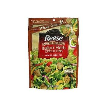 Reese Croutons Whole Grain, Italian Herb 5 OZ (Pack of 24)