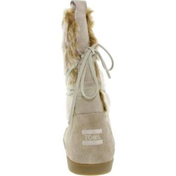 Oxford Tan Suede Faux Hair Women's Nepal Boots