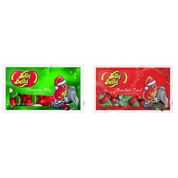 Two Pack Of Holiday Jelly Belly! One Christmas Mix! Jelly Bean One Reindeer Corn Candy Corn! Each Bag Is One Ounce!