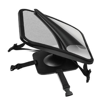 Baby Car Back Seat Mirror for Baby and Mom Rear Facing View, Best Newborn Safety With Secure Headrest Double-Strap