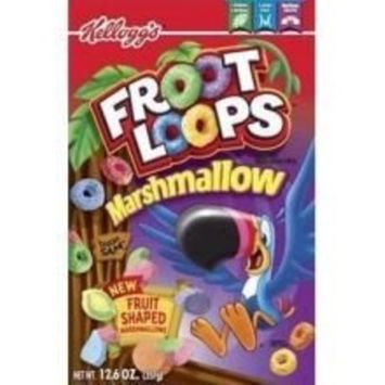 Kellogg's Froot Loops Cereal, Marshmallow, 12.6-Ounce Boxes (Pack of 16)
