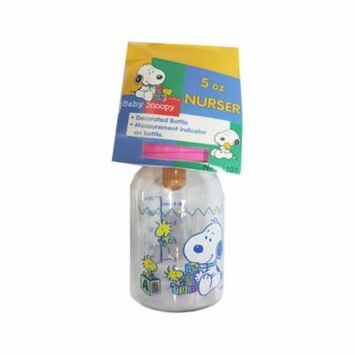 Peanuts Baby Snoopy & Baby Woodstock w Blocks 4-oz. Baby Bottle Nurser