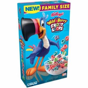 (2 Pack) Kellogg's Froot Loops Wildberry Breakfast Cereal 18.7oz