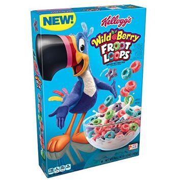 Kellogg's Froot Loops, Breakfast Cereal, Wild Berry, 10 oz Box