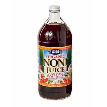 Healing Noni 100% Pure Organic Hawaiian Noni Juice - 32 Ounce Glass Bottle