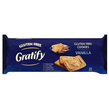 Gratify Vanilla Gluten Free Cookies, 7 oz, (Pack of 12)