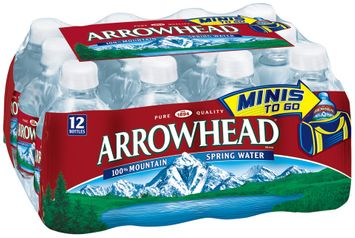 ARROWHEAD Brand 100% Mountain Spring Water, 8-ounce mini plastic bottles  (Pack of 12)