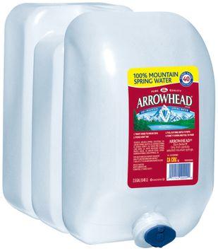 ARROWHEAD Brand 100% Mountain Spring Water, 2.5-gallon plastic jug