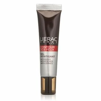 Lierac Homme Eye Contour, Fatigue Smoothing Gel, 0.55 Oz + Schick Slim Twin ST for Dry Skin