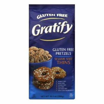 Gratify Pretzl Thins Sesame Case of 6 10.5 oz.
