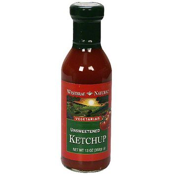 Westbrae Natural Unsweetened Ketchup, 13 oz (Pack of 6)