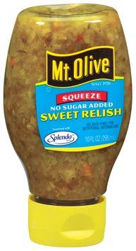 mt Olive Sweet No Sugar Added Relish