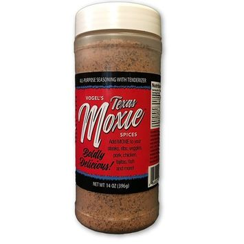 All Purpose Seasoning with Meat Tenderizer - Vogel's Texas Moxie Spices 14 oz