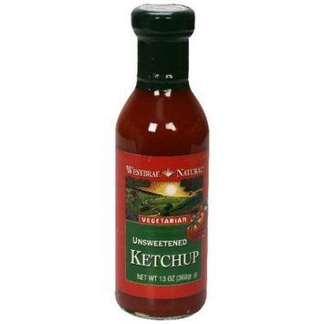 Westbrae Vegetarian Unsweetened Ketchup, 13 Ounce (Pack of 6)