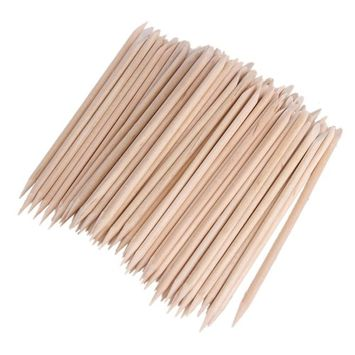 1 Pack 80-100pcs Nail Art Orange Wood Stick Cuticle Pusher Remover Manicure Pedicure