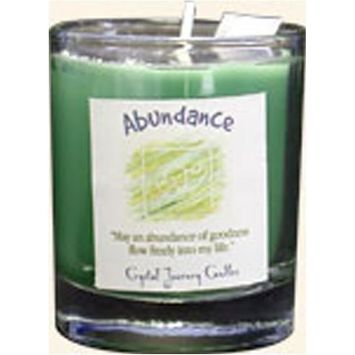 Crystal Journey Herbal Magic Glass Filled Soy Votive Candle - Healing