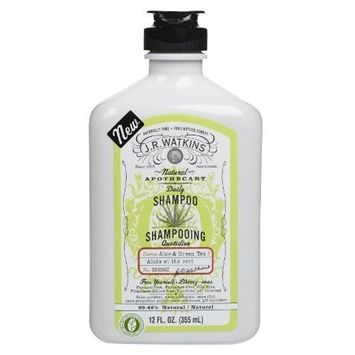 Jr Watkins J.R. Watkins Shampoo, Aloe and Green Tea, 12 Fluid Ounce
